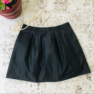 J. Crew 100% Silk Taffeta mini skirt w/ pockets